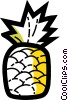 Vector Clip Art graphic  of a Pineapples