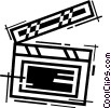 Vector Clip Art image  of a Clapper Boards