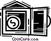 Vector Clipart picture  of a Vaults and Safes