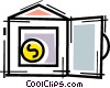 Vector Clip Art graphic  of a Vaults and Safes