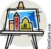Painting and Frames Vector Clipart image