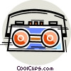 Portable Cassette Players Vector Clipart graphic