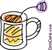 Vector Clipart illustration  of a Teacups