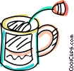 Vector Clipart picture  of a Teacups