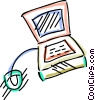 Vector Clip Art picture  of a Computer Desktop Systems