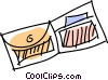 Vector Clipart picture  of a Wallets
