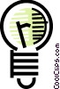 Vector Clip Art picture  of a Light bulbs