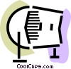 Vector Clipart image  of a Rolodex