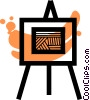 Easels Vector Clipart illustration