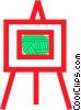 Vector Clip Art image  of a Easels