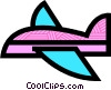 Vector Clip Art picture  of a Commercial Jets