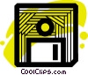 Diskettes Floppy Disks Vector Clipart illustration