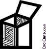 Vector Clipart graphic  of a Crates