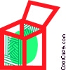 Vector Clip Art image  of a Crates