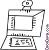 Computer Desktop Systems Vector Clipart picture