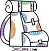 Vector Clip Art graphic  of a Schoolbags and Knapsacks