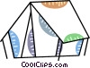 Tents Vector Clipart illustration