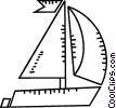 Vector Clipart image  of a Sailboats