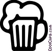 Vector Clip Art image  of a Beer