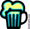 Vector Clip Art graphic  of a Beer