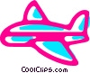 Commercial Jets Vector Clip Art picture
