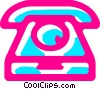 Home Phones Vector Clip Art image