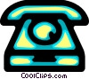 Vector Clipart graphic  of a Home Phones