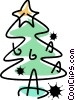 Vector Clipart picture  of a Christmas Trees
