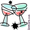 Champagne Vector Clip Art graphic