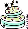 Vector Clipart graphic  of a Birthday Cakes