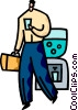 Vector Clip Art image  of a Water Coolers