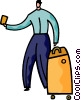 Vector Clip Art graphic  of a Passengers