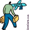 Passengers Vector Clipart graphic