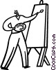 Vector Clipart graphic  of a painters
