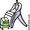 Hand Carts and Dollies Vector Clip Art image