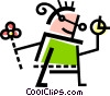 Children in Summer Vector Clipart image