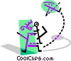 Vector Clip Art picture  of a Children in Summer