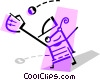 Vector Clipart illustration  of a Baseball Players