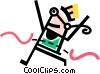 Runners Running Vector Clip Art picture