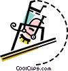 High Jump Vector Clipart illustration