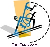 Vector Clipart image  of a High Jump