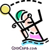 Vector Clip Art graphic  of a Water Polo