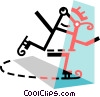 Vector Clip Art picture  of a Figure skater