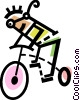 Cyclists Vector Clipart picture