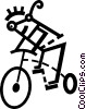 Vector Clipart graphic  of a Cyclists