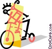 Cyclists Vector Clipart illustration
