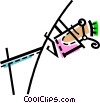Vector Clipart illustration  of a Pole Vaulter
