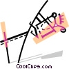 Vector Clip Art image  of a Pole Vaulter