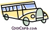 Vector Clip Art graphic  of a School Buses