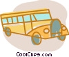 Vector Clipart graphic  of a School Buses
